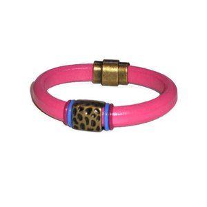 Bracelet Genuine Leather Regaliz, Hot Pink